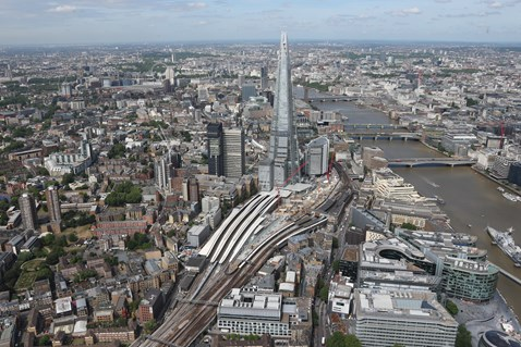 Thameslink Programme - Aerial view of London Bridge 4