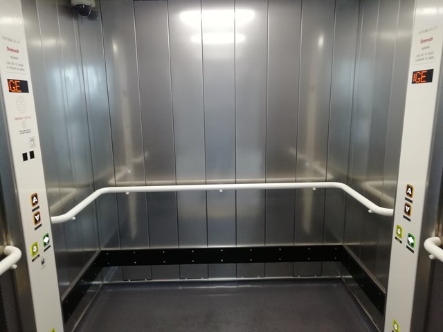 New lift at Luton Airport Parkway station, photo credit: Govia Thameslink Railway