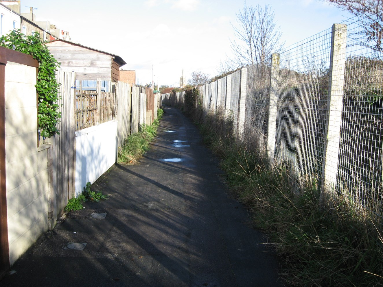 HARWICH RAILWAY CLEAN-UP NETS SEVEN TONNES OF FLY-TIPPED RUBBISH: After - the alleyway following the clean-up