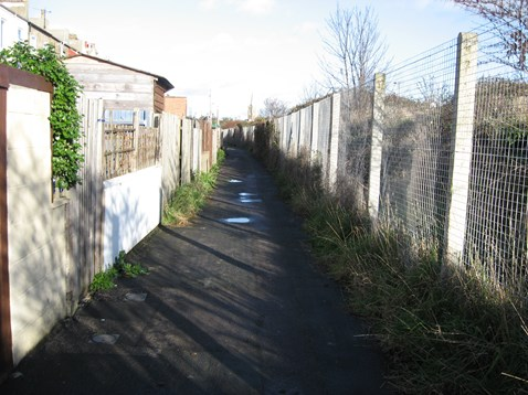 After - the alleyway following the clean-up