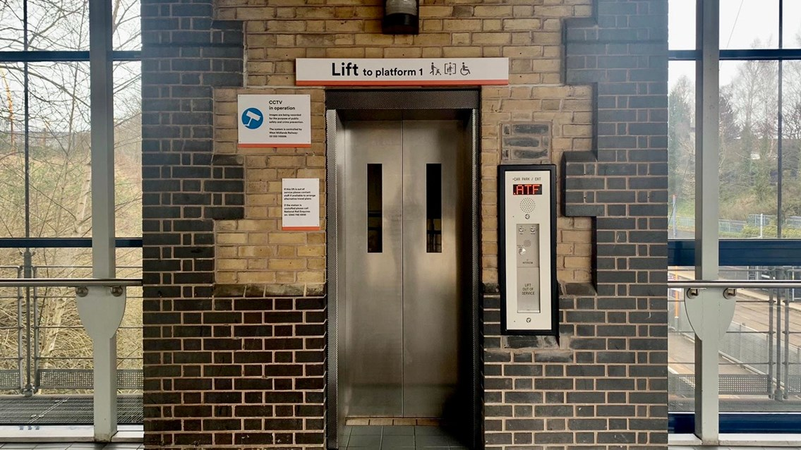 Passengers thanked as lift upgrade completed at The Hawthorns: Hawthorns lift after renewal March 2021