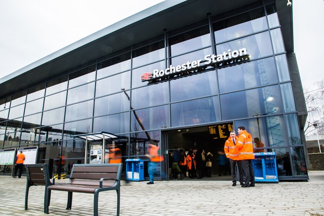 Check before you travel to Rochester's Dickensian Christmas as railway upgrade continues: New Rochester Station