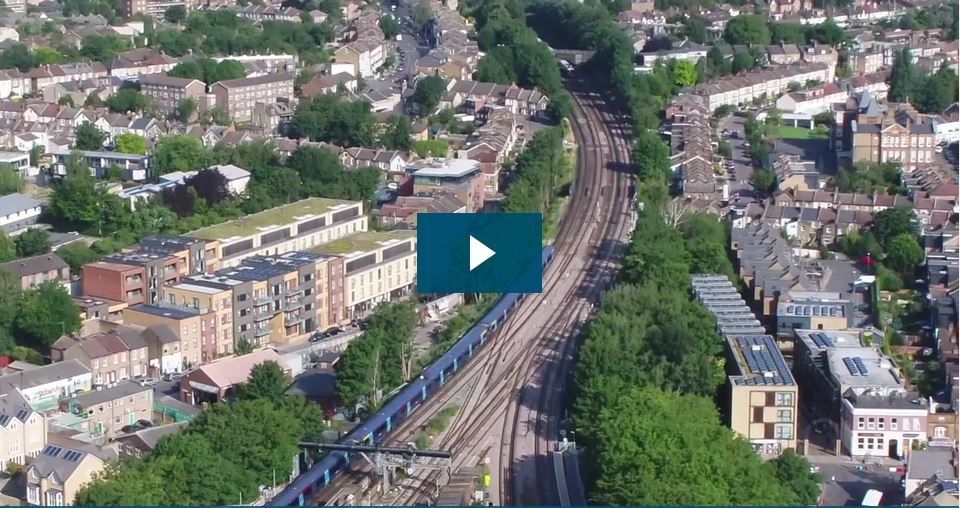 Video: Vital signalling work means nine days with no trains through Hither Green, South East London, starting tomorrow (Saturday): Hither Green screen grab