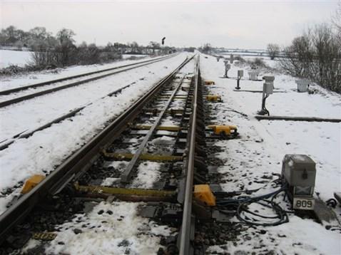 Snow on the railway