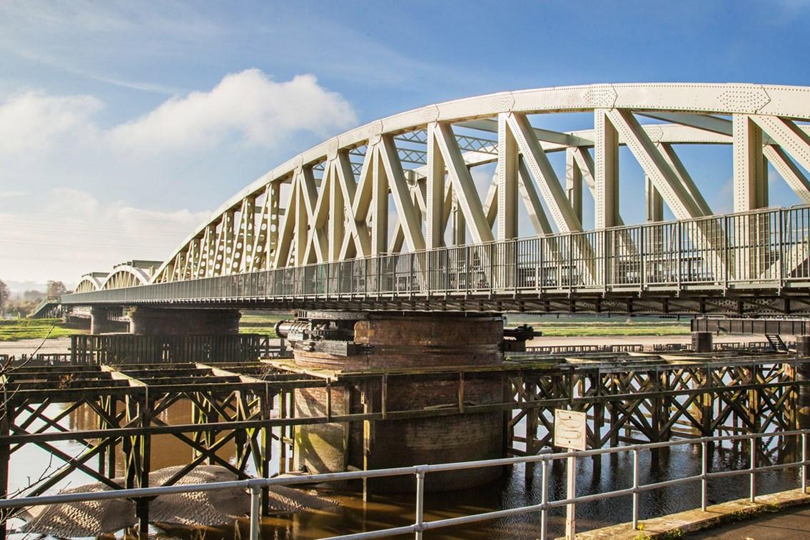 Major work to strengthen Hawarden railway bridge completed: Major work to strengthen Hawarden railway bridge completed