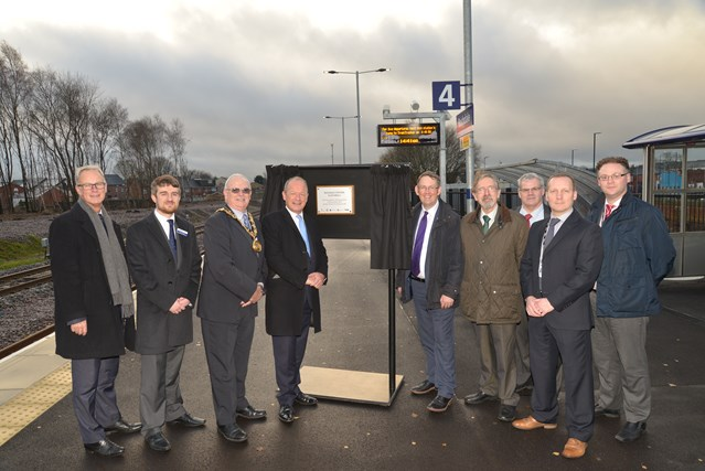 First phase of Calder Valley upgrade completed on time and under budget: Rail minister Paul Maynard officially opening the new platform 4 at Rochdale station
