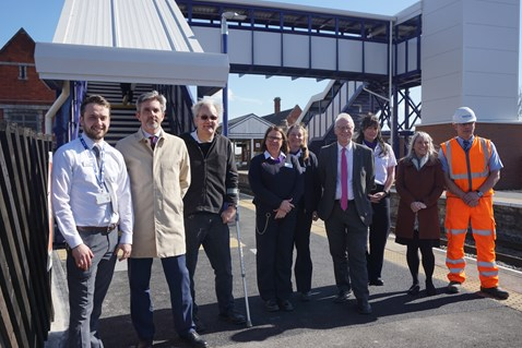 The new footbridge at Scunthorpe is now open