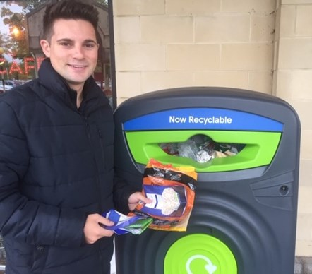 Praise for recycling scheme: Cllr Harris - Recycling banks