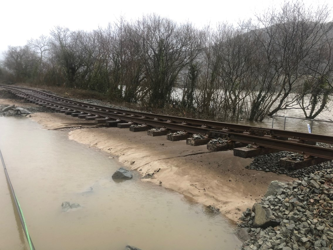 Storm Ciara: Damage to the Conwy Valley Line: Conwy Valley Line 4