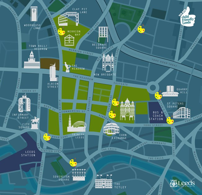 Our Spaces Art Trail map snippet