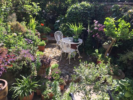 Sally Hull won the Best Back Garden prize