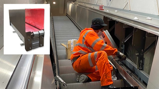 Euston station trials bacteria busting ultra-violet technology: UV-C handrail cleaning device trialled at Euston