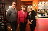 Culture Secretary Fiona Hyslop visits Coronation Street set: Culture Secretary Fiona Hyslop meets cast members Michelle Collins and Jimmi Harkishin, following her keynote speech at the Salford Media Festival 2013.   Credit: Joseph Scanlon / ITV Mobile: 07500 571901 Email: joseph.scanlon@itv.com