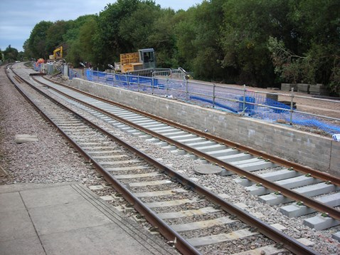 Three mile new track ready to be joined to existing track