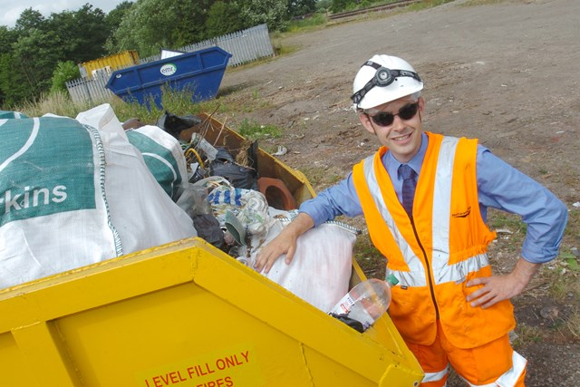 BANBURY RAILWAY CLEAN-UP NETS 25 TONNES OF FLY-TIPPED RUBBISH: Rubbish haul after Banbury railway clean-up