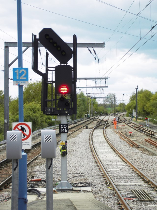 MORE RELIABLE RAILWAY FOR ESSEX AS £100M+ UPGRADE IS COMPLETED: New signals at Thorpe-le-Soken