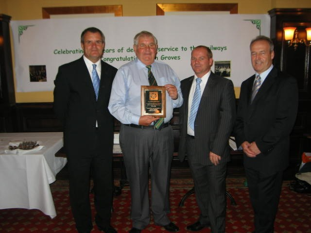 AFTER 50 YEARS OF SERVICE JOHN IS STILL ON BOARD: John Groves 50 years of service