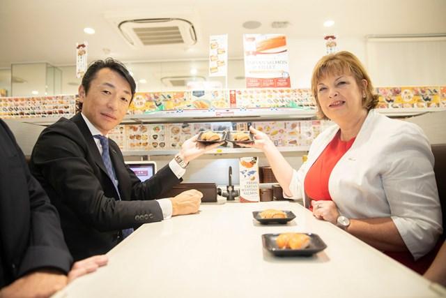 Takashi Houshito and Fiona Hyslop