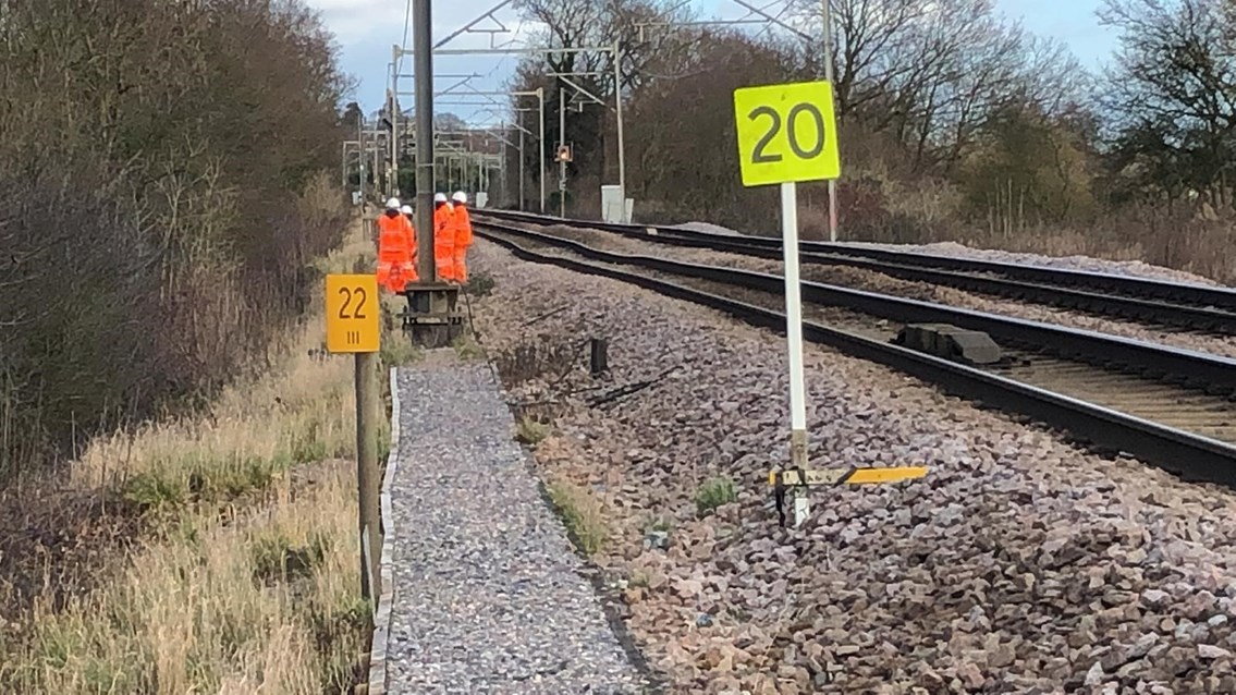 Emergency rail works to take place at Ingatestone to repair embankment: Ingatestone Bank Slip2