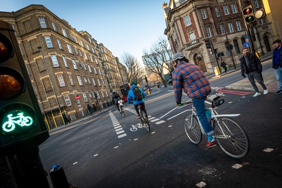 TfL Press Release - Data from TfL and Halfords shows continued boom in numbers of people cycling and learning to cycle safely: TfL Image - TfL cycleway