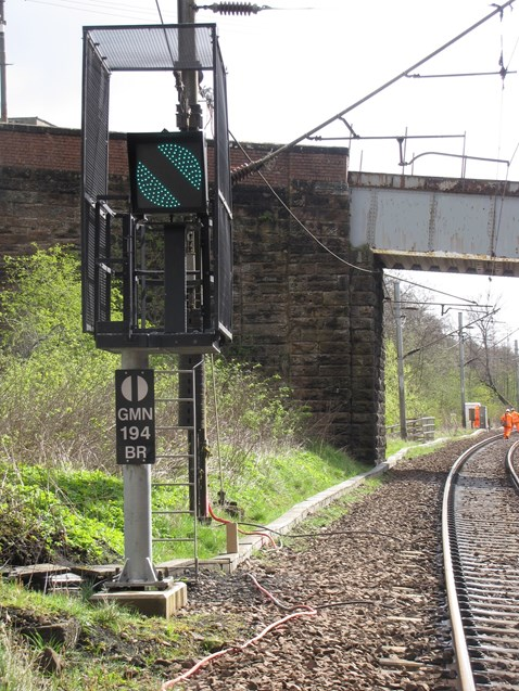 New signal as part of Motherwell North Signalling Renewal