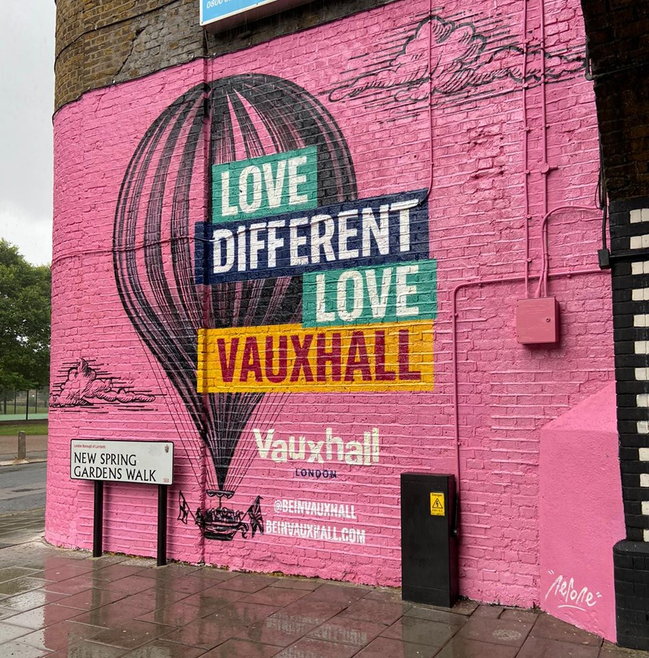 Network Rail backs mural in Vauxhall celebrating a historic record at the most famous pleasure garden of the 19th Century: VX1-Vauxhall mural