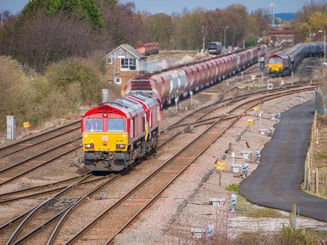 Key railway workers enable 400,000 tonnes of vital food, medicine, fuel and other supplies to be transported across Yorkshire each week: Freight services at Milford Junction, Yorkshire