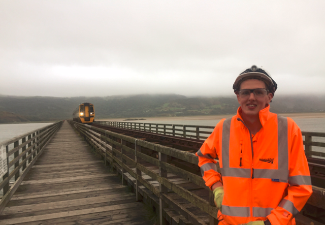 Final call for budding engineers to join Network Rail apprenticeship scheme across Wales and Borders: Edward Aston, from Hereford, completed the Advanced Apprenticeship scheme in April 2016