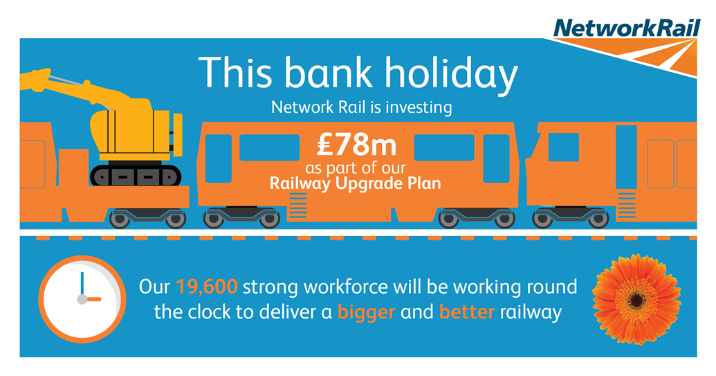 Passengers urged to check before they travel ahead of bumper changes to services this May: Check before you travel this late May bank holiday
