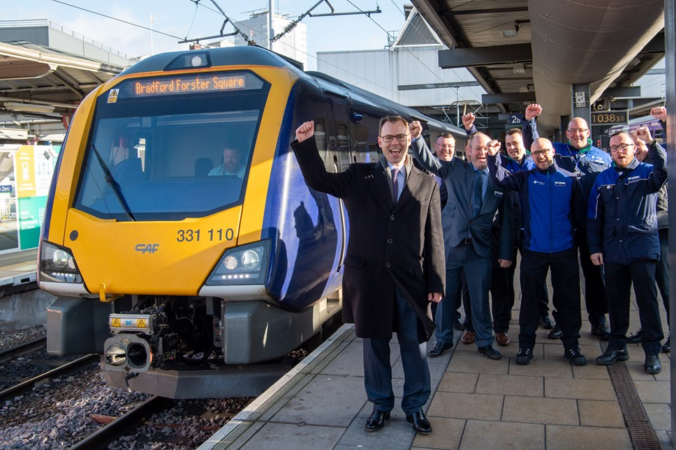 Northern reaches landmark in new train introduction: Leeds new trains 4