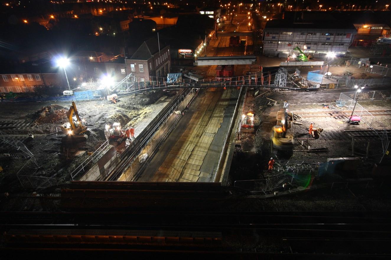 Caversham Road - second bridge span removed