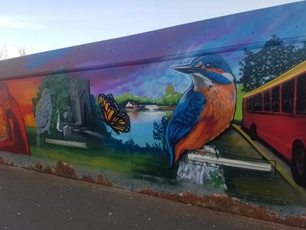 St Helens Footbridge Mural 3