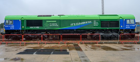 Young HS2 fan names new carbon-friendly freight train: The Green Progressor