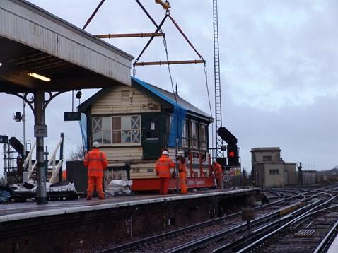 Barnham Signal Box Preparation