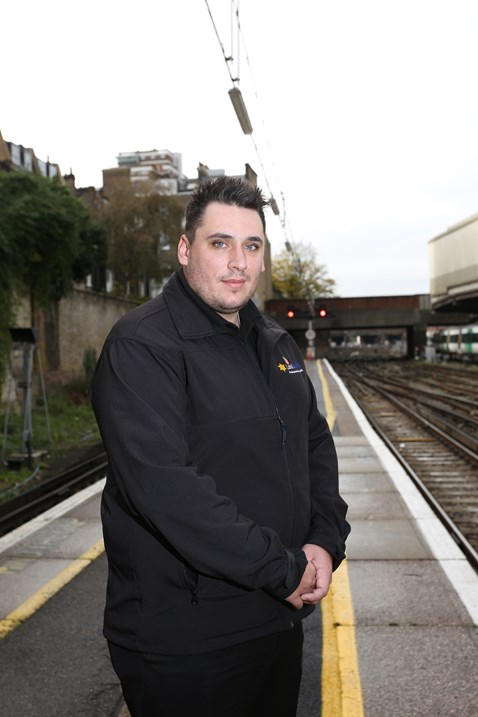 Antony Warne, of Land Sheriffs, who has intervened in potential suicides on the railway