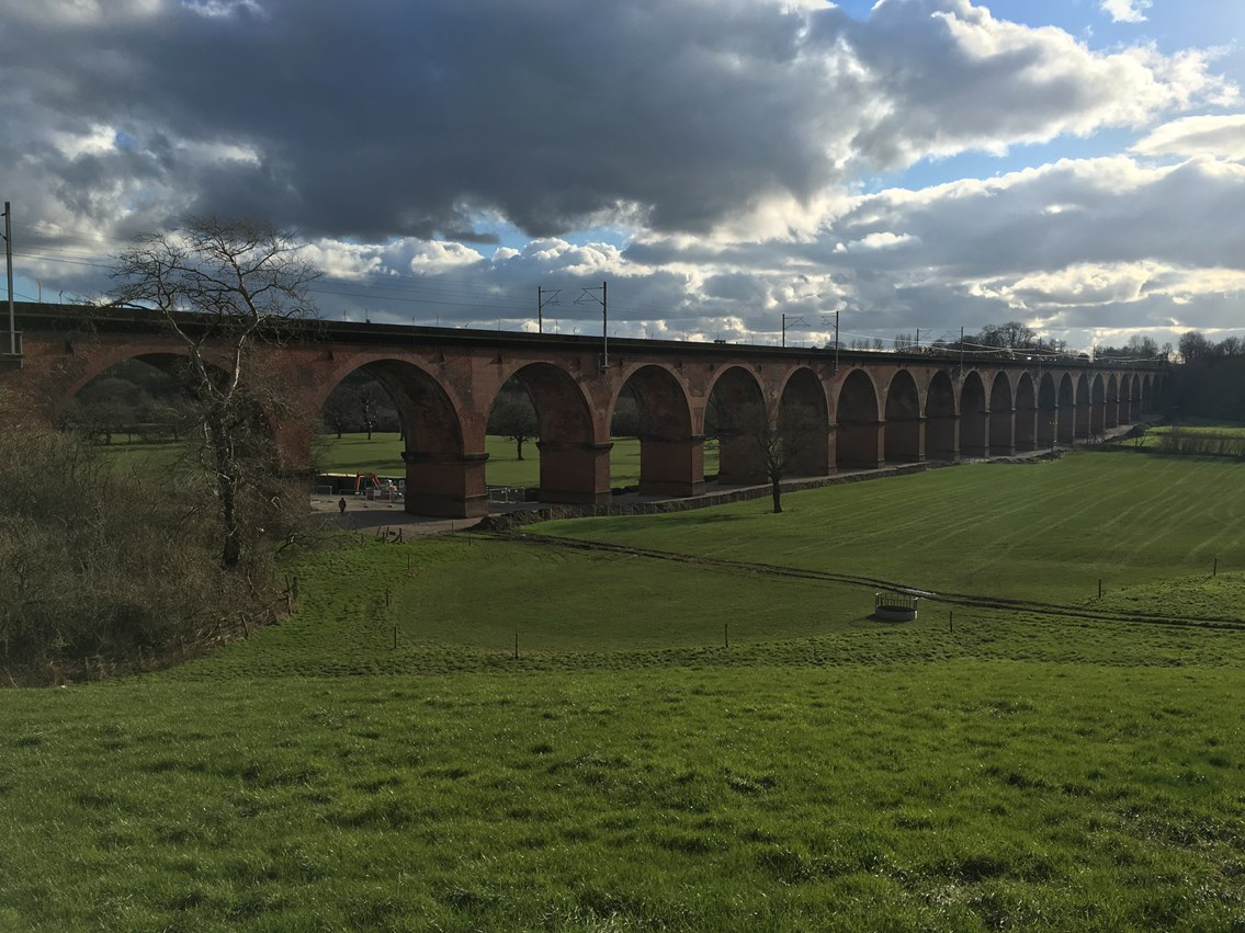 Network Rail reopens railway in Cheshire following £17m investment in iconic bridges and viaduct: Holmes Chapel viaduct 1