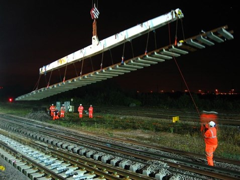 Track installed overnight to minimise passenger disruption
