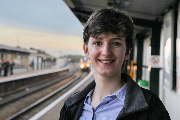 The UK's youngest ever Railway Chaplain appointed: Hannah Tuck, Railway Chaplin..