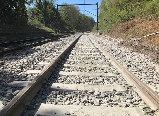 New track delivers essential reliability improvements at Billericay and Maryland for Southend rail passengers: Billericay track renewal April 2020