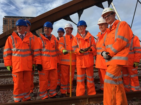 Ordsall Chord putting in the final gloden clip