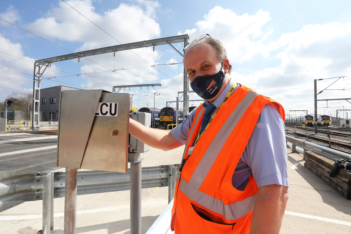 Brent Cross West March 2021 lxxvii New level crossing Network Rail Local operations manager Robin Morel