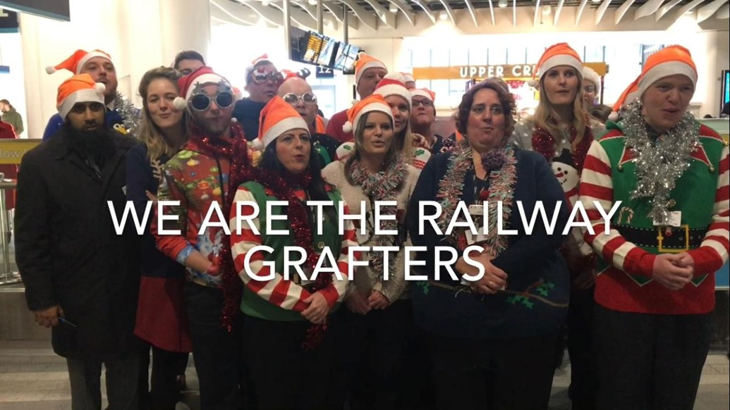 Railway Grafters release Christmas song: The Railway Grafters, Network Rail's Christmas choir