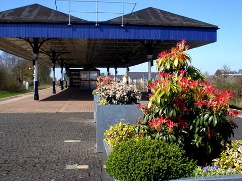 Walkden station planters