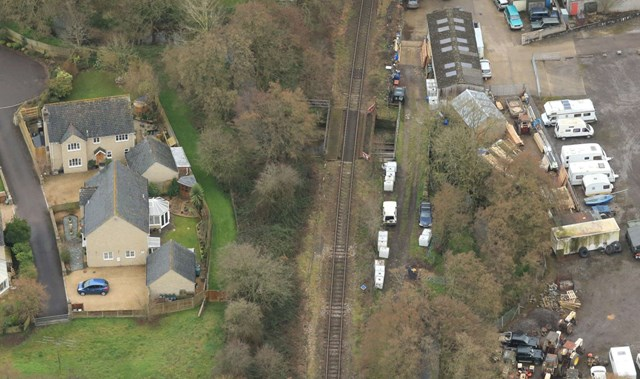 This weekend starts seven-day line closure on the Heart of Wessex rail line: Yetminster river bridge close up