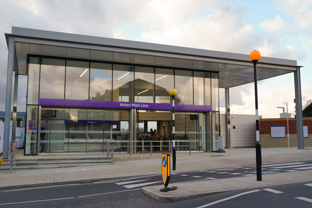 Front of Acton Main Line station