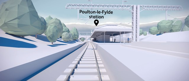 Next stage of work to upgrade the railway in Lancashire starts this weekend: Poulton station video still