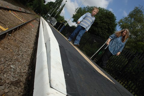 The 'hump' has significantly reduced the gap between the platform and trains