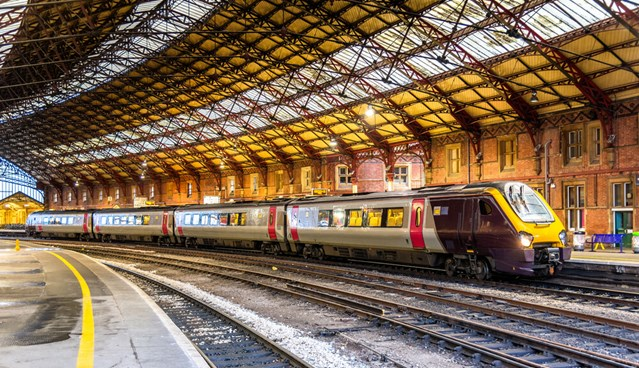 Network Rail's Western route reveals five year £multi-billion plan to improve the railway and increase services in the West of England: Cross Country train at Bristol Temple Meads