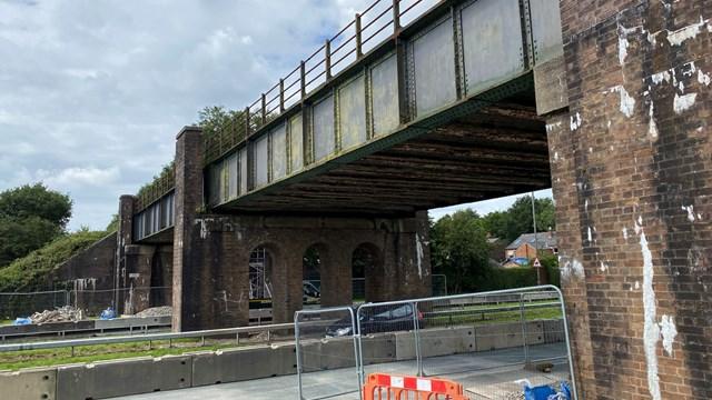 Rainford Bypass bridge 21 July