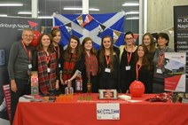 Napier University students who visited Switzerland: Eight Edinburgh Napier University students visited Switzerland with backing from last year's awards to complement their BA Hospitality and Tourism Management studies.